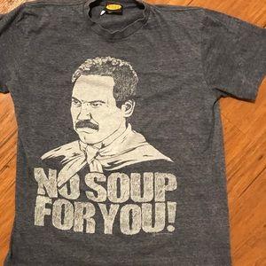"""seinfeld Shirts - Seinfeld, Soup Nazi, """"No Soup for You"""" T-shirt"""